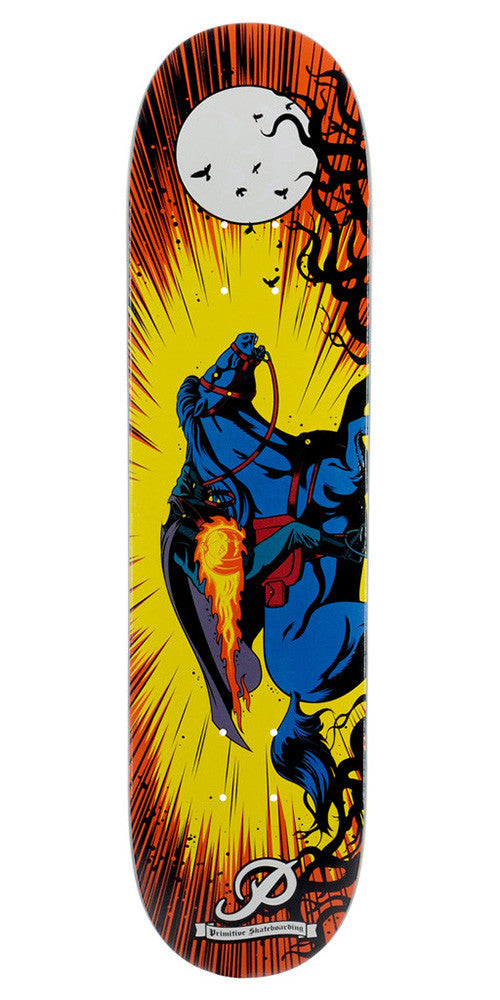 Primitive Horseman Glow In The Dark Skateboard Deck - Yellow - 8.25