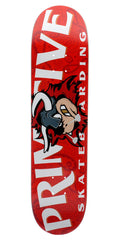 Primitive Raging Bull Skateboard Deck - Red - 8.0