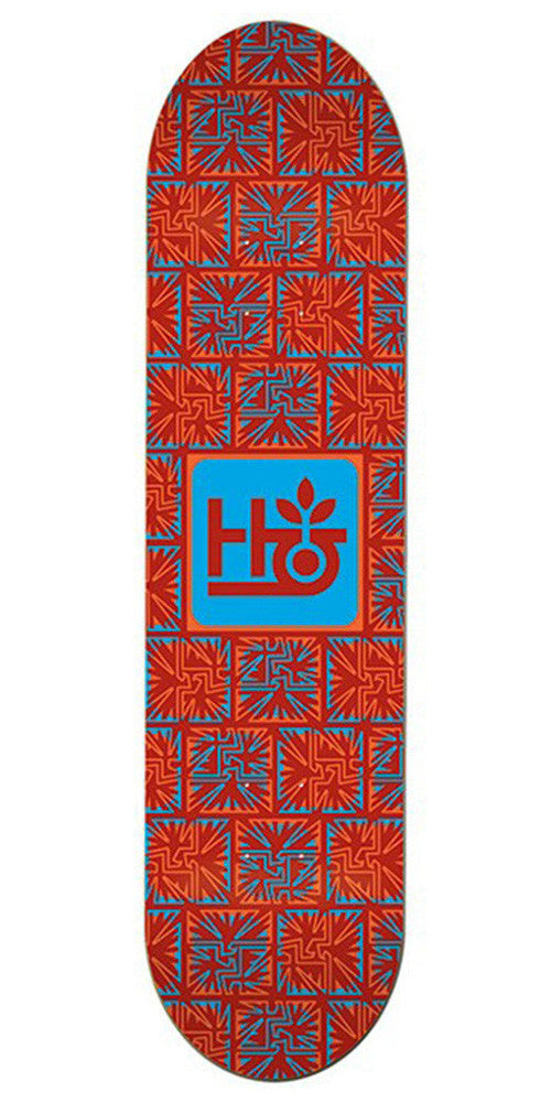 Habitat Aztec Pod Skateboard Deck - Red - 8.25in