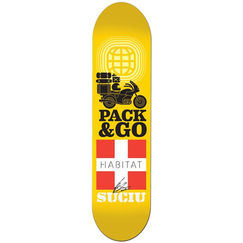 Habitat Mark Suciu Pack & Go Skateboard Deck - Yellow - 8.5in