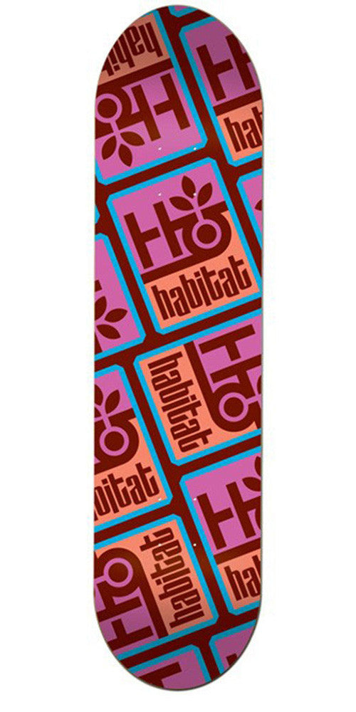 Habitat Pod Compressed Large Skateboard Deck - Red/Pink - 8.25in