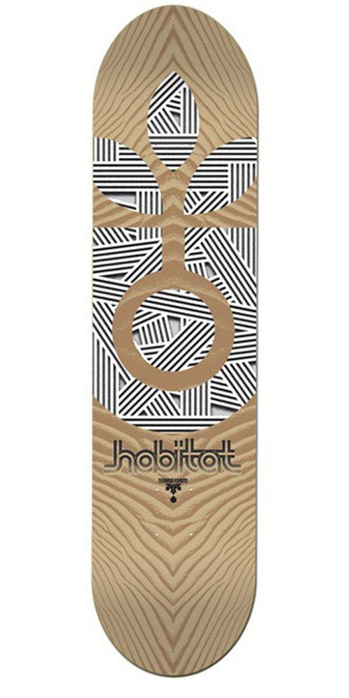 Habitat Terra Form Medium Skateboard Deck - Brown - 8.125in
