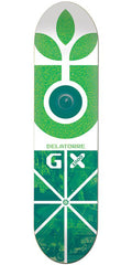 Habitat Delatorre GX Skateboard Deck - White/Green - 8.125in