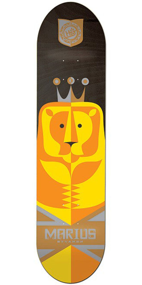 Habitat Marius Regalia Skateboard Deck - Orange/Yellow - 8.25in