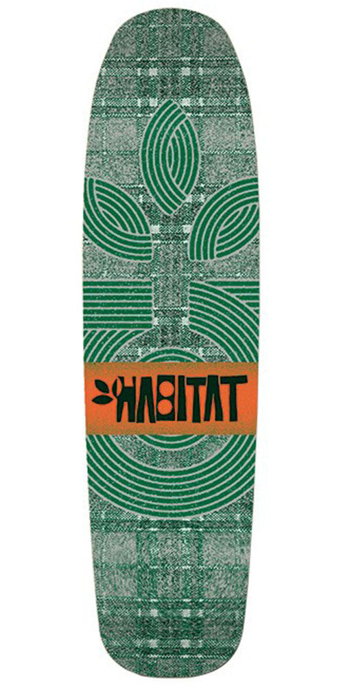 Habitat Plaid Cruiser Skateboard Deck - Green - 8.25in
