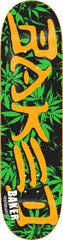 Baker Baked Leaves Skateboard Deck 8.19- Black/Green/Orange