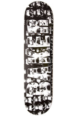 Baker Brand Logo Skull Wall Skateboard Deck - Black/White - 8.0in