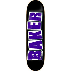 Baker Brand Skateboard Deck 8.25 - Black/Purple