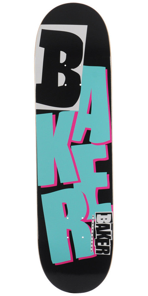 Baker Reset Stacked Skateboard Deck 8.38 - Black/Teal/Purple