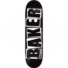 Baker Brand Logo Skateboard Deck - 8.0in x 31.5in - Black/White