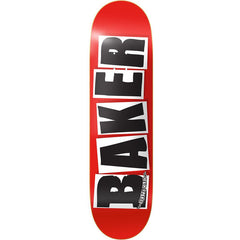Baker Brand Logo Skateboard Deck - 8.25in x 31.5in - White/Red