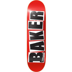 Baker Brand Logo Skateboard Deck - 8.3875in x 32.0in - Black/Red