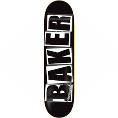 Baker Brand Logo Skateboard Deck - 8.25in x 31.875in - Black/White