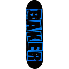 Baker Brand Logo Skateboard Deck - 7.75in x 31.0in - Blue/Black