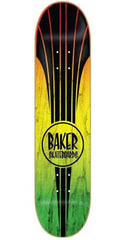 Baker Retro Stripes Skateboard Deck - Rasta - 8.19in