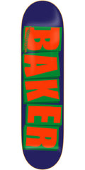 Baker Brand Logo Skateboard Deck - Navy/Orange - 8.25in