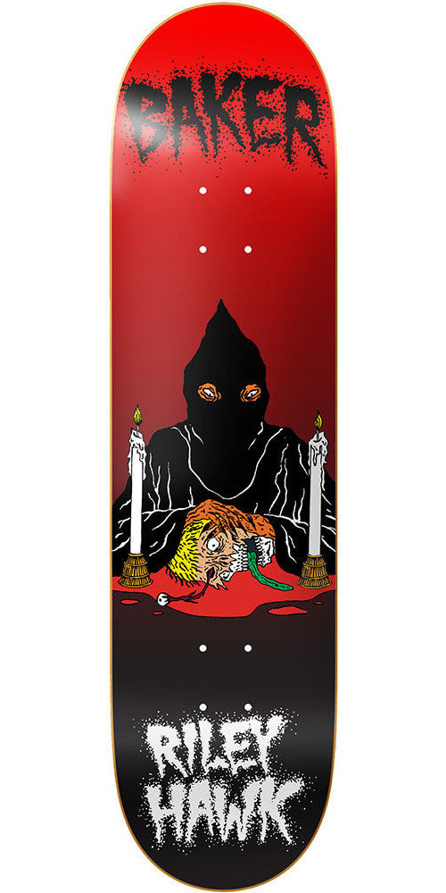 Baker Riley Hawk Executioner Skateboard Deck - Black/Red - 8.38in