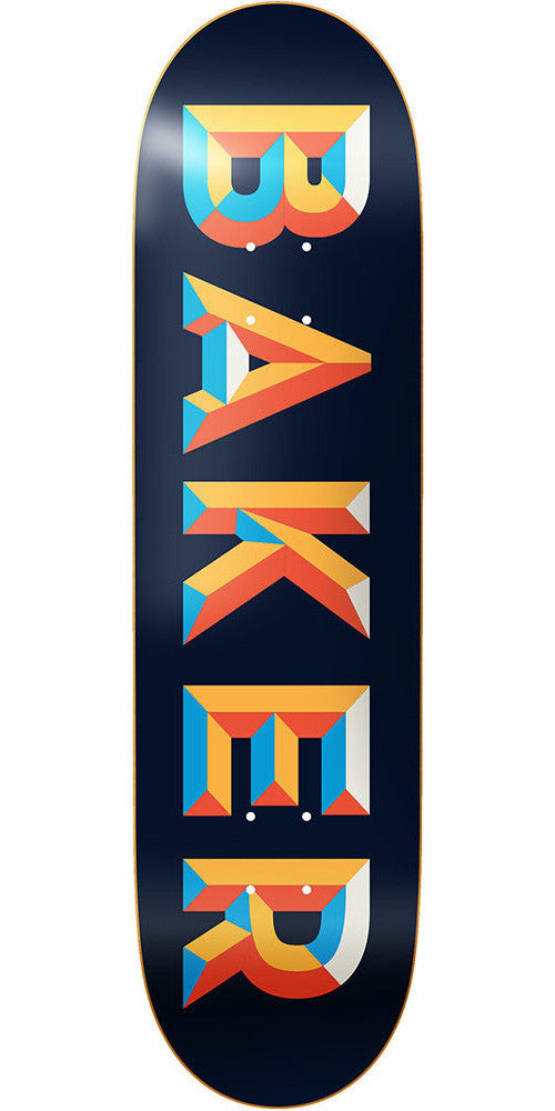Baker Bricks Skateboard Deck - Blue/Orange - 8.125in