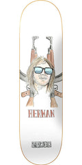 Baker Bryan Herman Bullet Proof Skateboard Deck - White - 7.875in