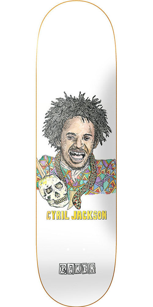 Baker Cyril Jackson Spellbound Skateboard Deck - White - 8.0in