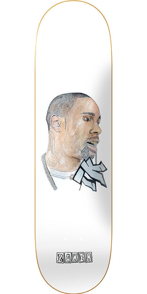 Baker Terry Kennedy Burrr Skateboard Deck - White - 8.25in