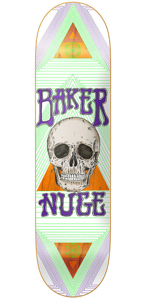 Baker Don Nguyen Geometry Skateboard Deck - White - 8.0in