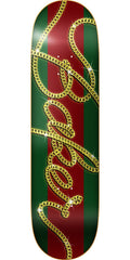 Baker Bucci Skateboard Deck - Green/Red - 8.0in