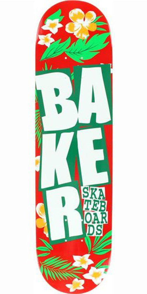 Baker Stacked Floral Skateboard Deck - Red - 8.0in