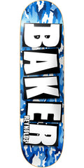 Baker AR Brand Name Skateboard Deck - Blue Camo - 8.3875in