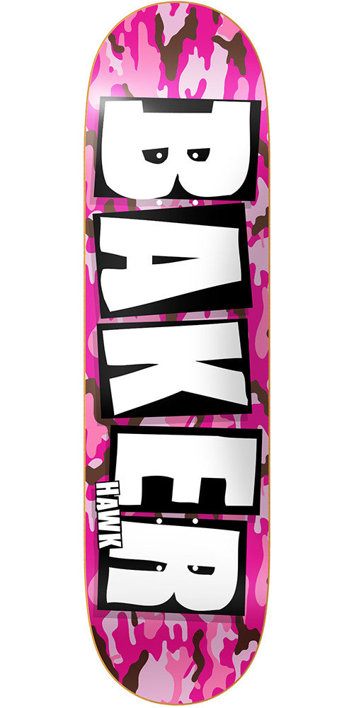 Baker RH Brand Name Skateboard Deck - Pink Camo - 7.875in