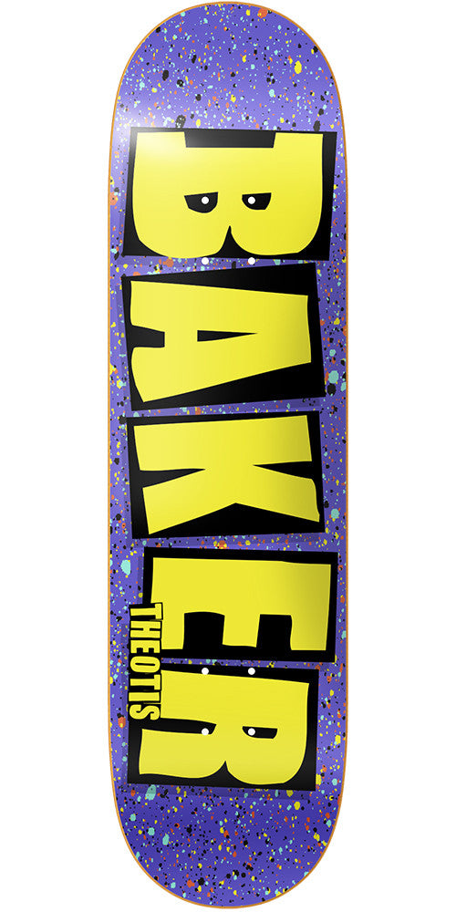 Baker TB Brand Name Splat Skateboard Deck - Purple - 8.3875in