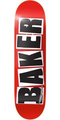 Baker Brand Logo Skateboard Deck - Black - 8.3875in