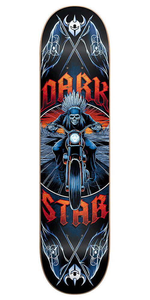 Darkstar Roadie SL Youth Mid Skateboard Deck - 7.5 - Red/Blue