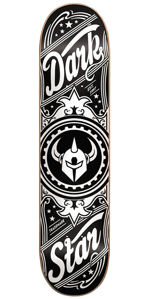 Darkstar Vintage SL Skateboard Deck - 7.75 - Black/White