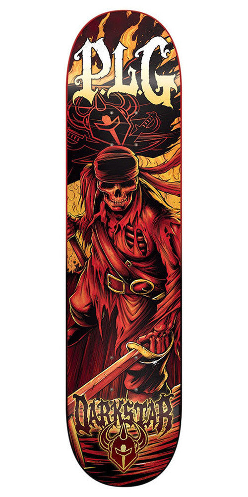 Darkstar Pierre Luc Gagnon Black Pearl SL Skateboard Deck - Red - 8.375in