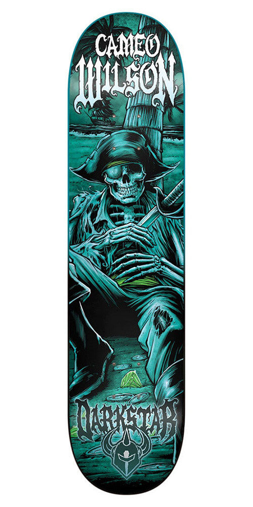 Darkstar Cameo Wilson Black Pearl SL Skateboard Deck - Teal - 8.0in