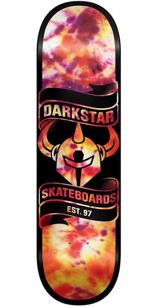 Darkstar Scroll SL Skateboard Deck - Tie Dye Orange - 7.75in