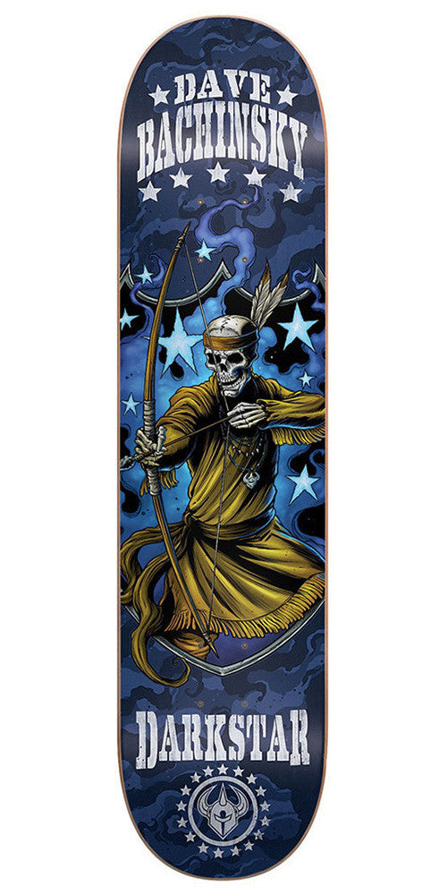 DarkStar Dave Bachinsky Combat SL Skateboard Deck - Blue - 7.75in