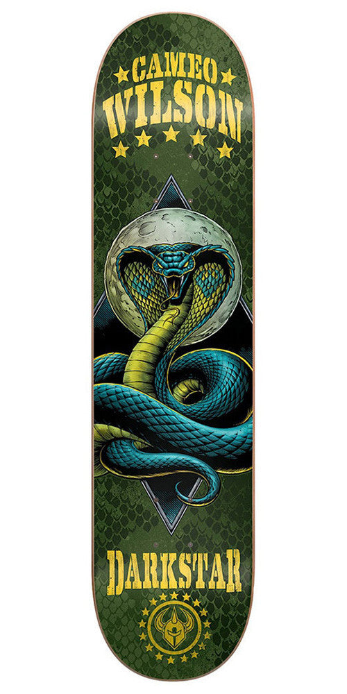 DarkStar Cameo Wilson Combat SL Skateboard Deck - Green - 8.0in
