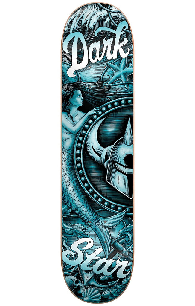 DarkStar Mermaid HYB Skateboard Deck - Teal - 8.25in