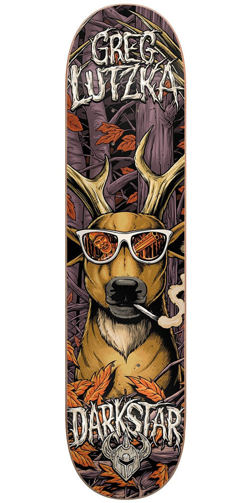 DarkStar Greg Lutzka Deer Hunter R7 Skateboard Deck - Brown - 8.125in