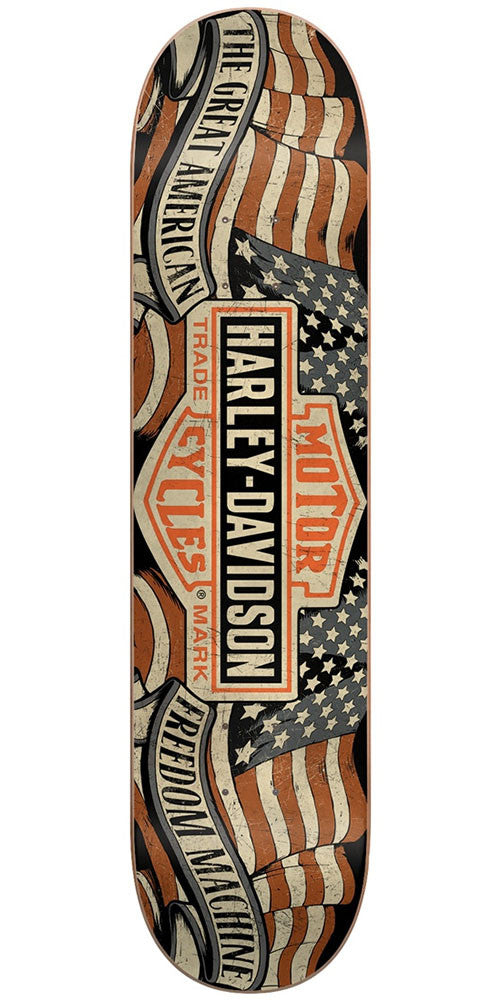 DarkStar Harley Davidson Freedom Skateboard Deck - Black - 7.875in