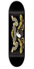 Anti-Hero Classic Eagle Large Skateboard Deck 8.12 - Black/Yellow