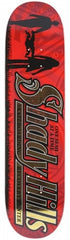 Anti-Hero Shady Hills Small Skateboard Deck 8.06 x 32 - Red/Gold