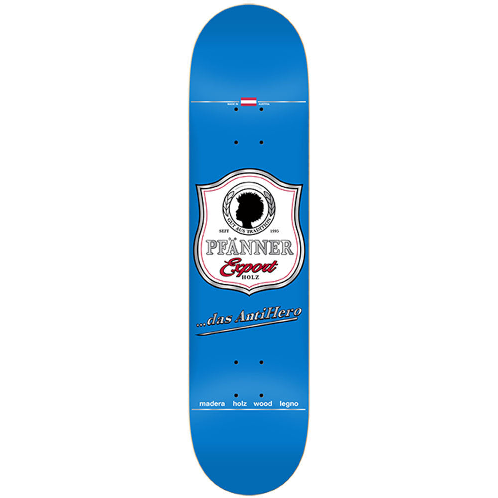 Anti-Hero Pfanner Export SM Skateboard Deck - 8.06 x 32.0 - Blue