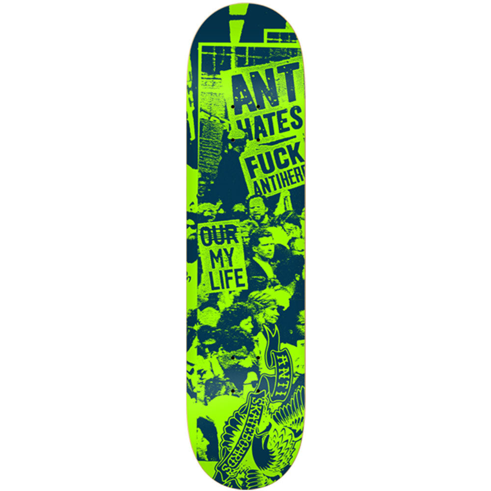 Anti-Hero Protest PP Small Skateboard Deck - Green - 7.75in x 31.25in