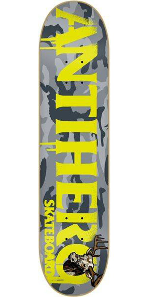 Anti-Hero Cownhorn Skateboard Deck - Grey Camo - 8.38in x 32.25in