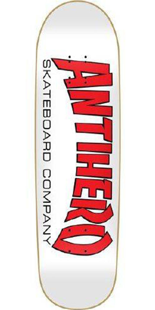 Anti-Hero Skateboard Co. II XXL Skateboard Deck - White - 8.875in x 32.5in