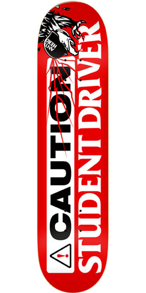 Anti-Hero Student Driver XL Skateboard Deck - Red - 8.5in x 32.25in