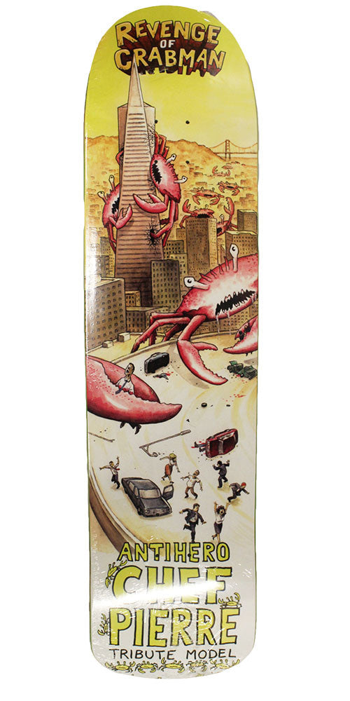 Anti-Hero Chef Pierre Crabman Skateboard Deck - Multi - 9.23in X 36.28in